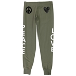 Love Moschino Womens Peace Love Athletic Jogger Pants