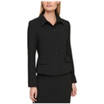 DKNY Womens Ruffled Four Button Blazer Jacket