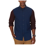 Nautica Mens Colorblocked Button Up Shirt