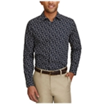 Nautica Mens Printed Woven Button Up Shirt