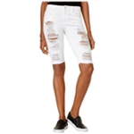 GUESS Womens Solange Ripped Casual Bermuda Shorts
