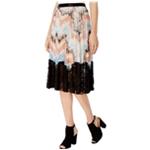 GUESS Womens Paulina Pleated Midi Skirt