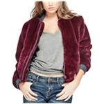 GUESS Womens Jolene Faux-Fur Bomber Jacket