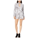 GUESS Womens Printed Romper Jumpsuit