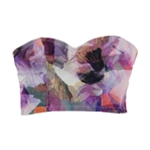 GUESS Womens Printed Bustier Blouse