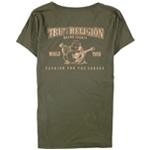 True Religion Womens Slim Metallic Graphic T-Shirt
