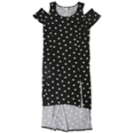 NY Collection Womens Cold Shoulder Fit & Flare Dress