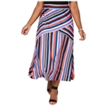 NY Collection Womens Pull On Maxi Skirt