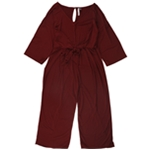NY Collection Womens Tie Front Jumpsuit