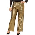 NY Collection Womens Metallic Casual Wide Leg Pants