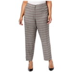 NY Collection Womens Plaid Casual Trouser Pants