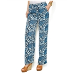 Michael Kors Womens Paisley Casual Wide Leg Pants