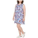 Tommy Hilfiger Womens Ruffled A-line Dress