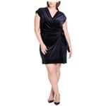 Tommy Hilfiger Womens Velvet Wrap Dress