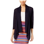 NY Collection Womens Ribbed Cardigan Sweater