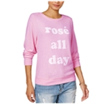 Dream Scene Womens Cotton Rose All Day Sweatshirt