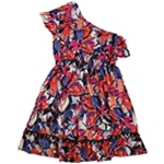 NY Collection Womens Floral Ruffled Dress
