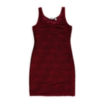 NY Collection Womens Ribbed Shift Dress