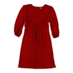NY Collection Womens Ruched Empire Dress