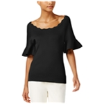 NY Collection Womens Textured Knit Blouse