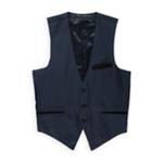 Public Notices Mens Micro Dot Three Button Vest