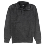 Rock & Republic Mens Henley Mock-Neck Pullover Sweater