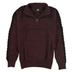 Rock & Republic Mens Marbled Mock-Neck Pullover Sweater