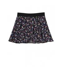 Justice Girls Floral Glitter Skater Mini Skirt