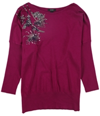 Alfani Womens Sequined Pullover Sweater