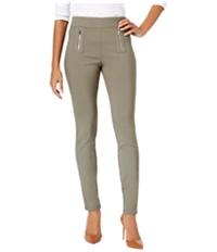 I-N-C Womens Zipper-Detail Casual Trouser Pants