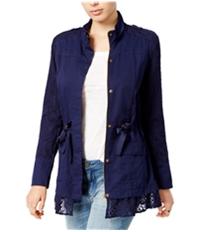 Maison Jules Womens Lace Utility Jacket