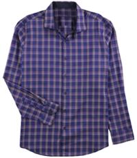Tasso Elba Mens Bossini Plaid Button Up Shirt
