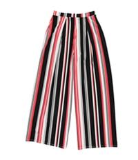 Bar Iii Womens Stripe Casual Wide Leg Pants