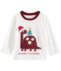 First Impressions Boys Santa-Saurus Graphic T-Shirt