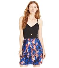 Material Girl Womens Textured Pleat Skirt A-Line Dress