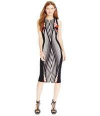 Material Girl Womens Optical-Print Bodycon Dress