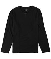 Alfani Mens Split Neck Ls Embellished T-Shirt