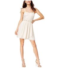 Bcx Womens Belted A-Line Dress