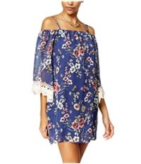 Bcx Womens Floral Off The Shoulder Sheath Dress