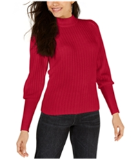 Leyden Womens Ribbed Mock Neck Pullover Sweater