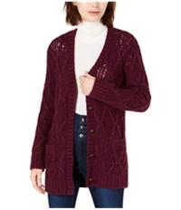 Leyden Womens Crochet Cardigan Sweater