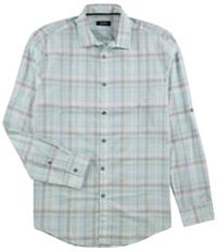 Alfani Mens Concord Plaid Button Up Shirt