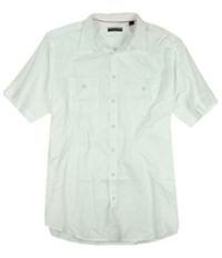 Alfani Mens Solid Ss Button Up Shirt