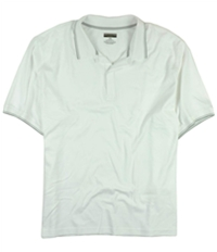 Alfani Mens Lightweight Solid Rugby Polo Shirt