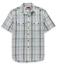Alfani Mens Slim Fit Pocket Button Up Shirt