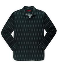 Alfani Mens Vertical Pixel Button Up Shirt