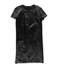 Ralph Lauren Womens Wool Panel Shift Dress