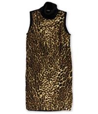 Ralph Lauren Womens Cheetah Sheath Dress
