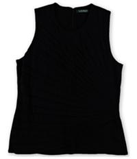 Ralph Lauren Womens Pressed-Pleat Knit Blouse