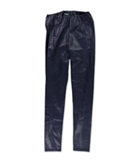 Ralph Lauren Womens Faux Leather Casual Leggings